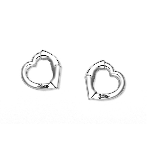 Gucci Bamboo Heart Stud Earrings