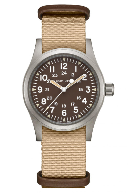 Hamilton 'Khaki Field Mechanical' 38mm Watch with Brown Dial