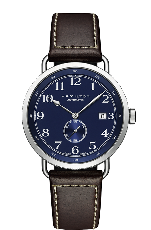 Hamilton 'Khaki Pioneer Auto' 40mm Watch with Blue Dial