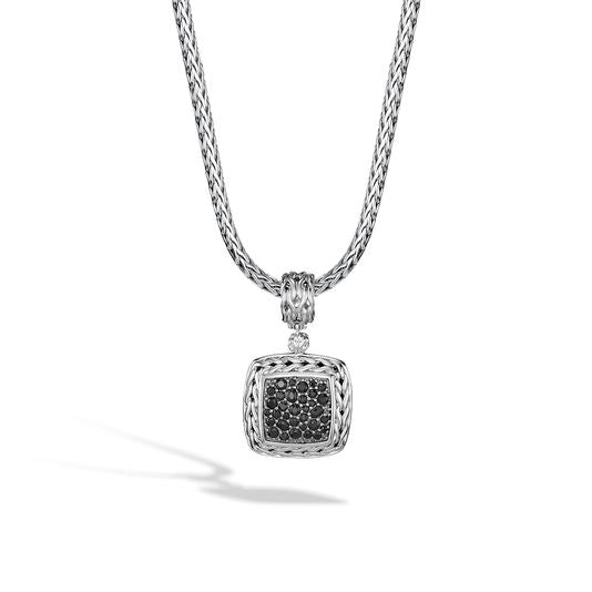 John Hardy Classic Chain Enhancer (Pendant) with Black Sapphire
