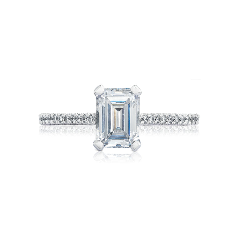 Tacori 'Petite Crescent' 7x5mm Emerald Engagement Ring