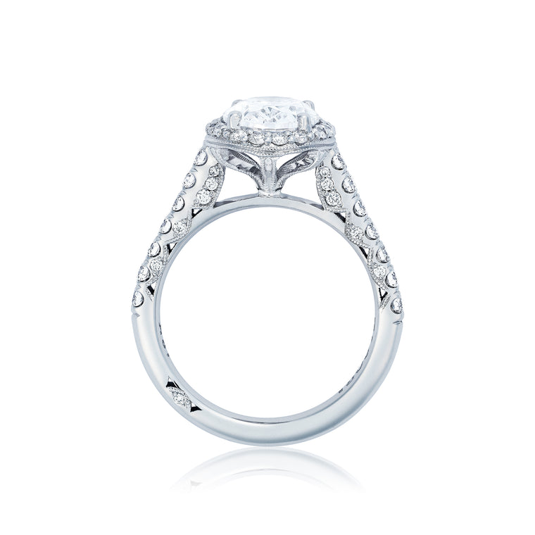 Tacori 'Petite Crescent' 9.5x7.5 Oval Engagement Ring