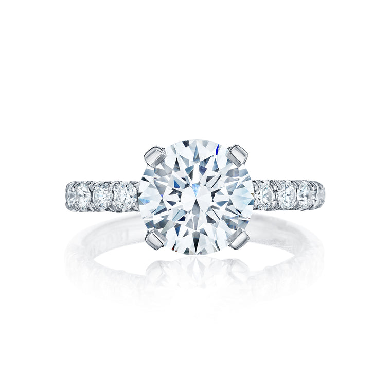 Tacori 'Petite Crescent' 8mm Round Engagement Ring