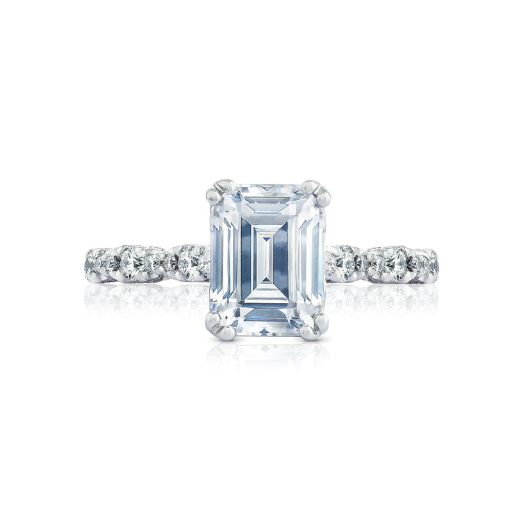 Tacori 'Petite Cresent' 8x6mm Emerald Cut Engagement Ring