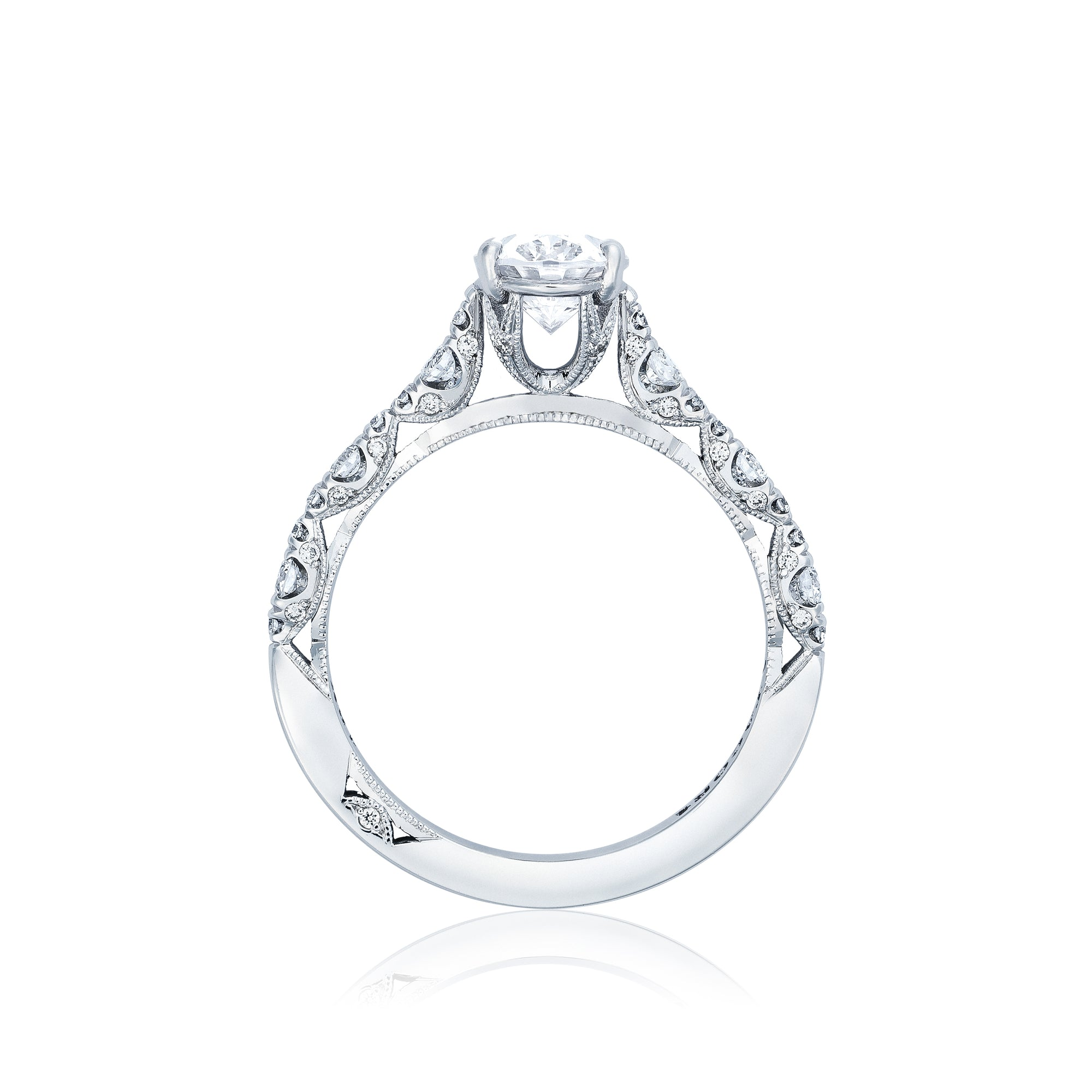 l crescent rings oval ring engagement tacori miller brent products petite