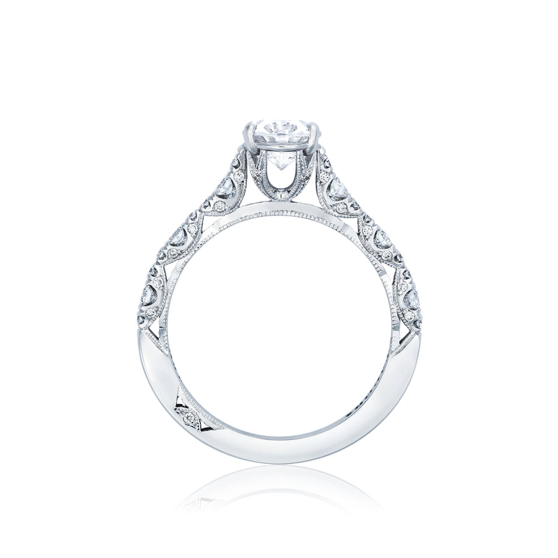 Tacori 'Petite Crescent' 8x6mm Oval Engagement Ring