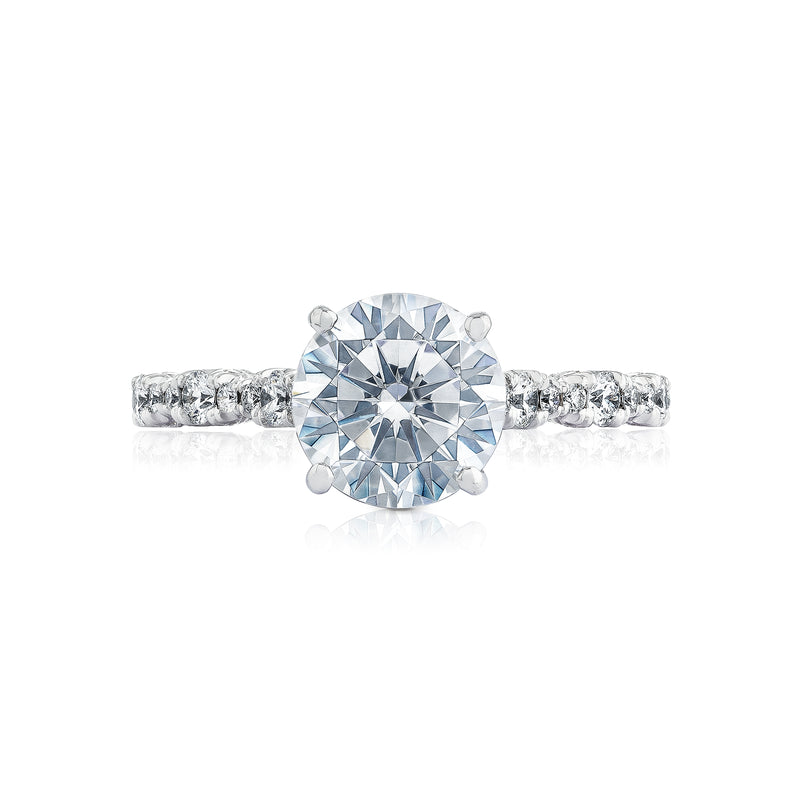 Tacori 'Petite Crescent' 6.5mm Round Engagement Ring
