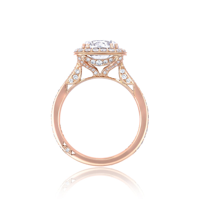 Tacori 'RoyalT' 8.5mm Round Halo Engagement Ring