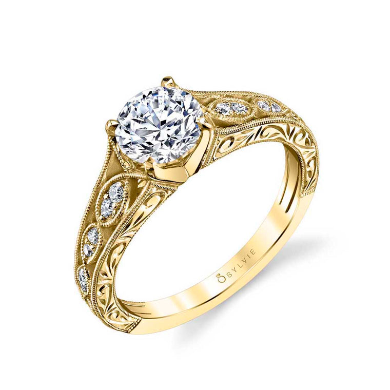 Sylvie 'Justeen' Vintage Inspired Engagement Ring