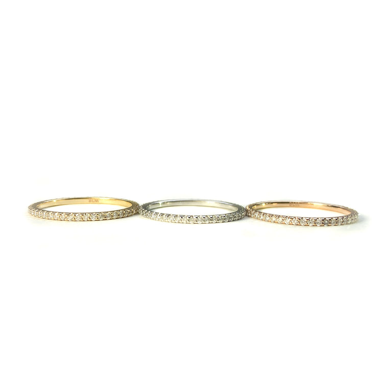 Graceful Diamond Eternity Band in 14k Rose Gold