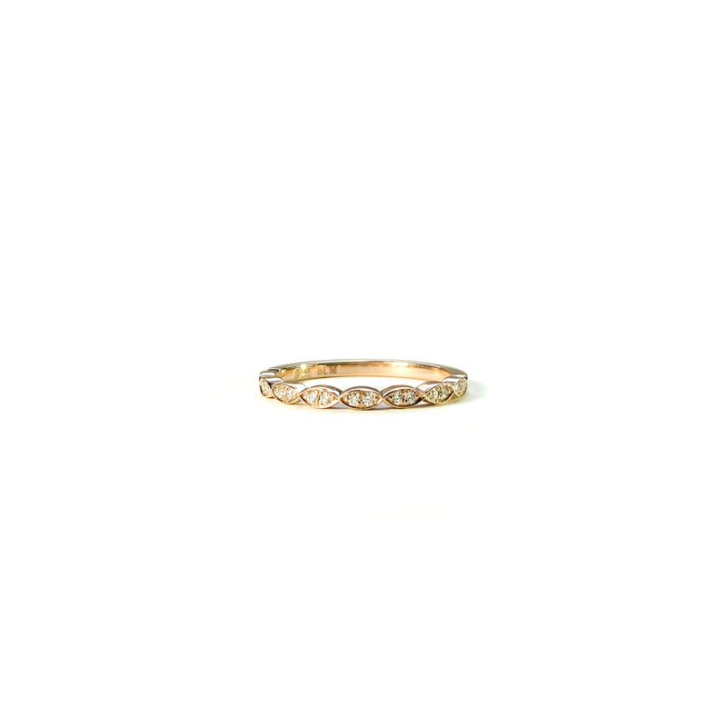 14k Rose Gold Queen Street Diamond Band