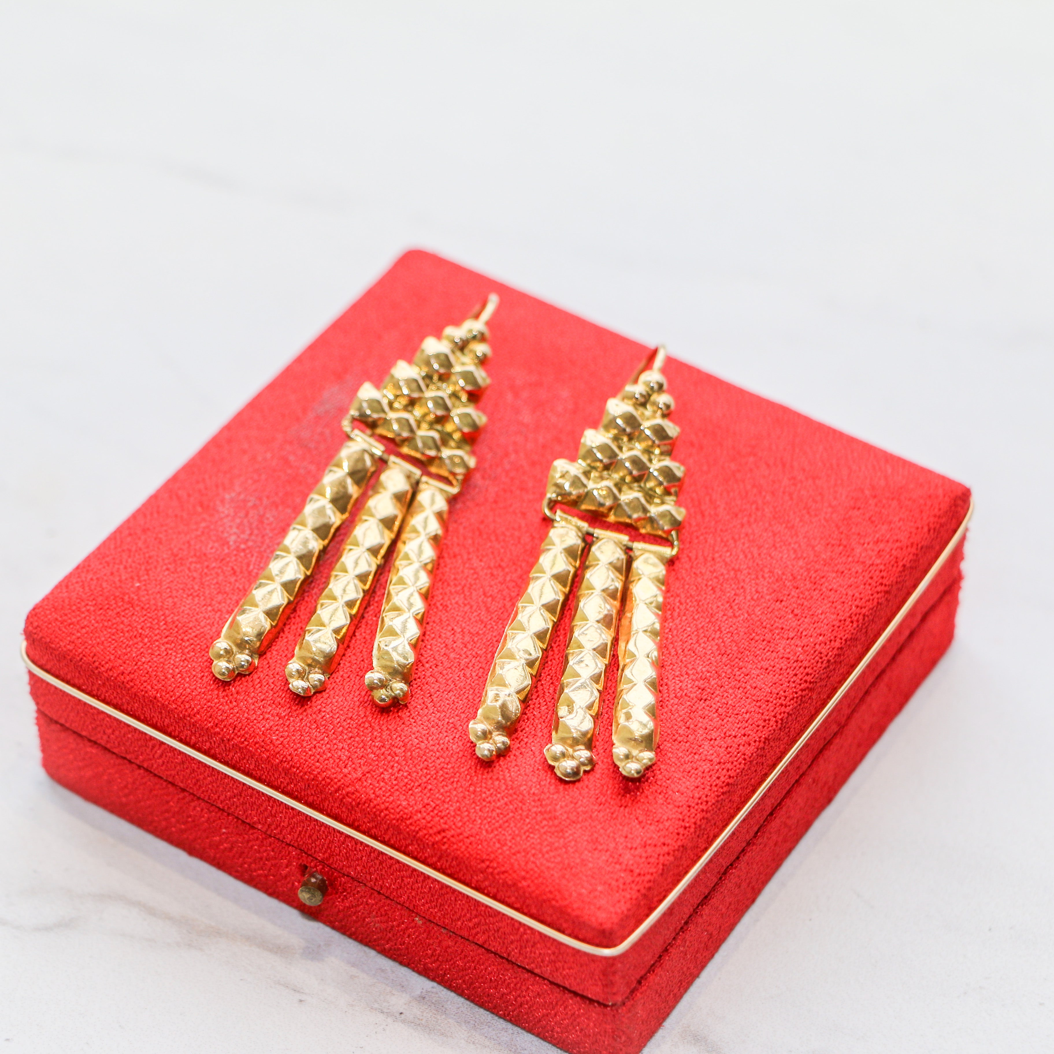 Antique 24k Yellow Gold Earrings