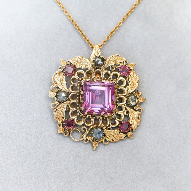Antique Untreated Natural Purplish Pink Spinel