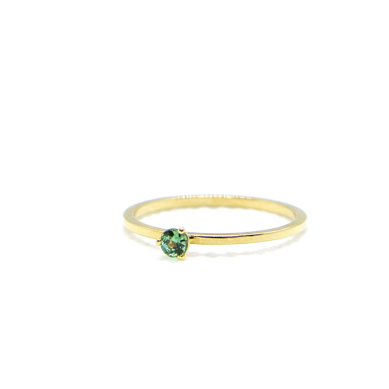 Hand Made June Birthstone and 14k Yellow Gold Stacking Ring