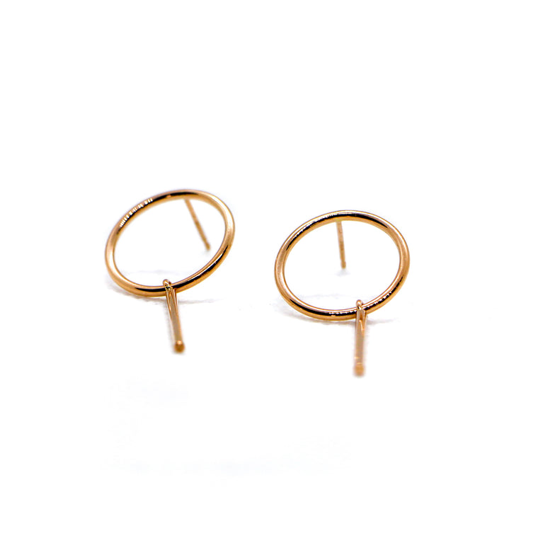 Hand Made 14k Rose Gold Lollipop Earrings