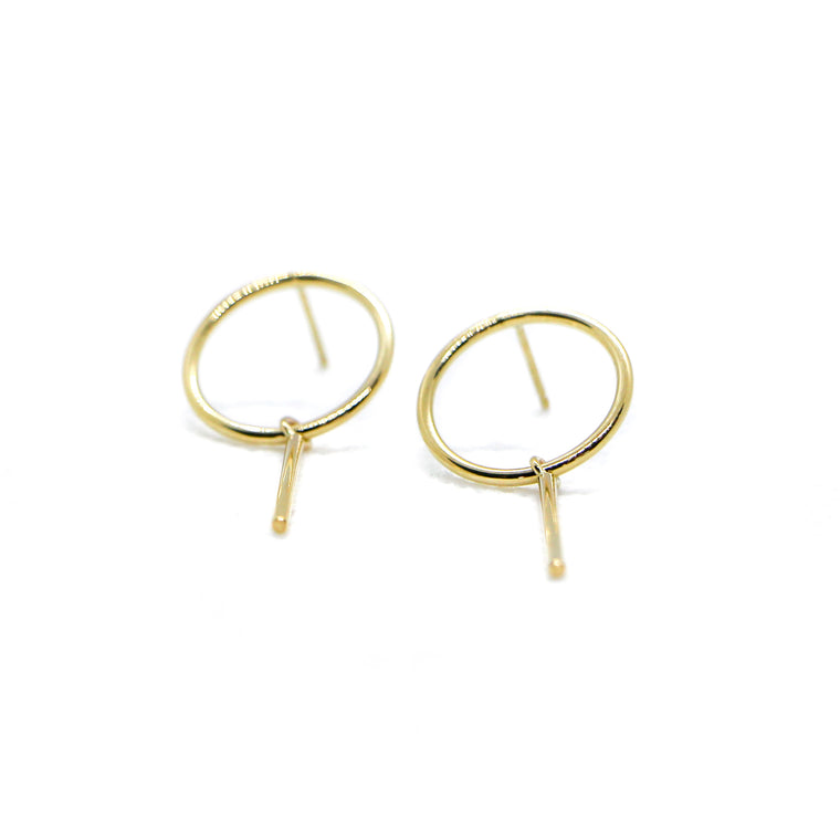 Hand Made 14k Yellow Gold Lollipop Earrings