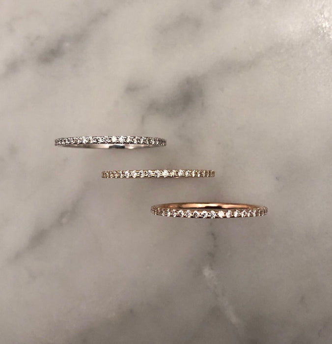 Graceful Diamond Eternity Band in Rose Gold