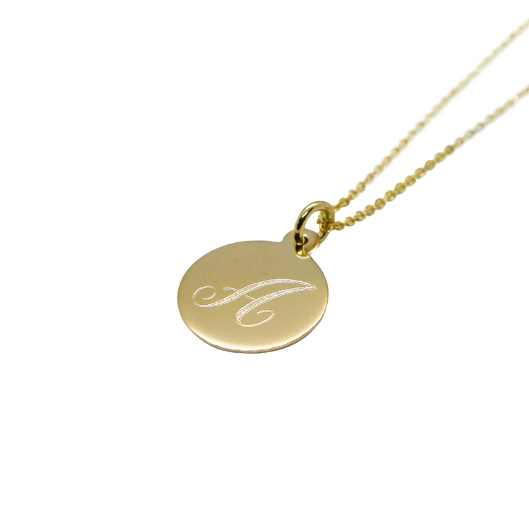 Hand Made Signature Initial A Disc Pendant