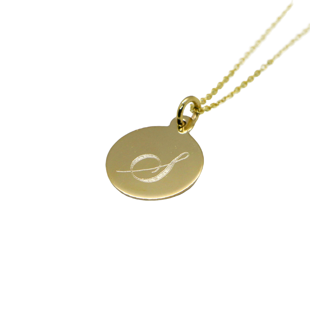 Hand Made Signature Initial S Disc Pendant