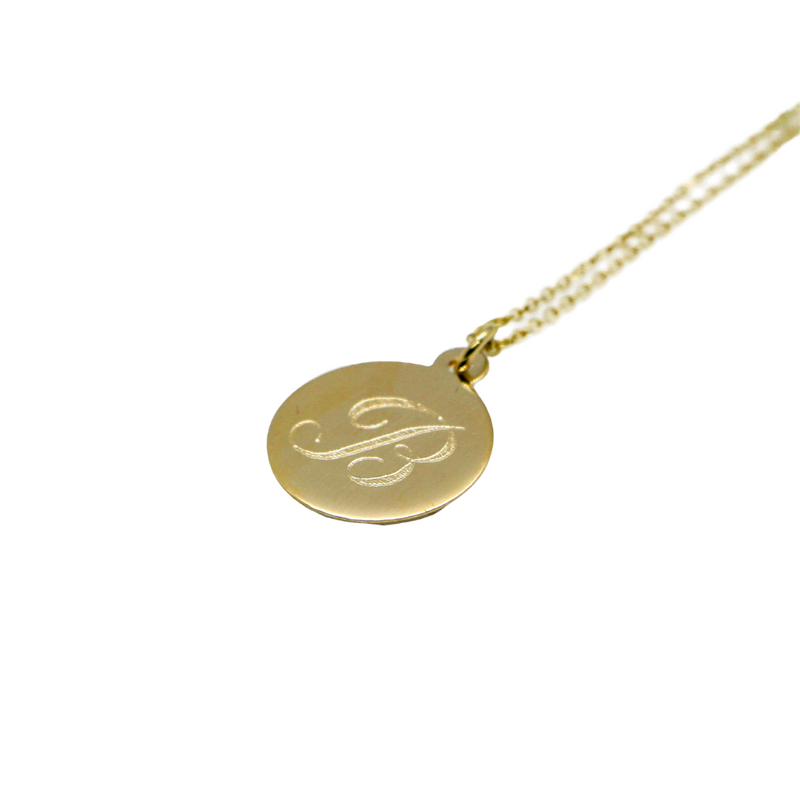 Hand Made Signature Initial B Disc Pendant