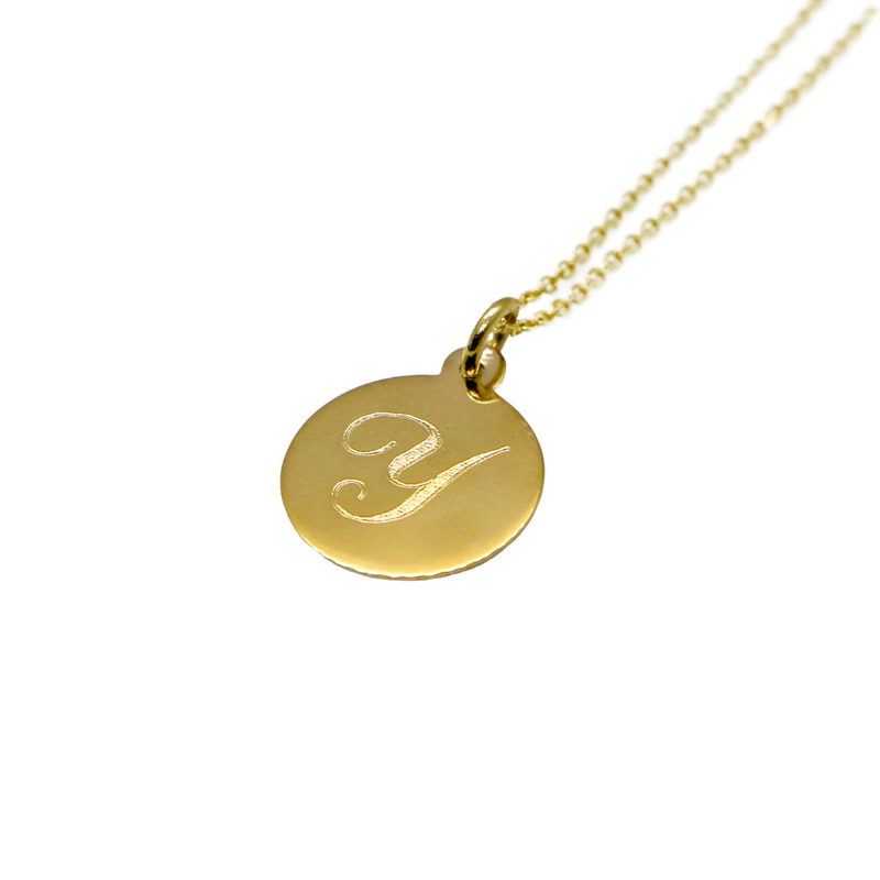 Hand Made Signature Initial Y Disc Pendant
