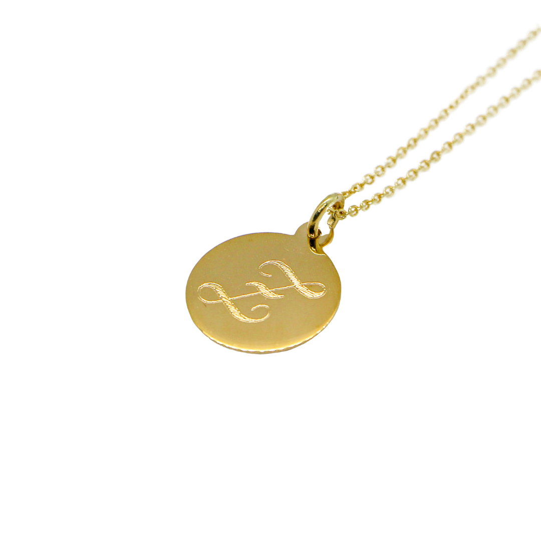 Hand Made Signature Initial Z Disc Pendant