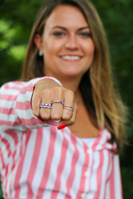 Pink @cupcakering 2.7mm in 14k White Gold