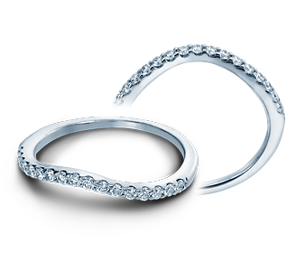 Verragio Insignia-7010W 18k White Gold Contour Wedding Band
