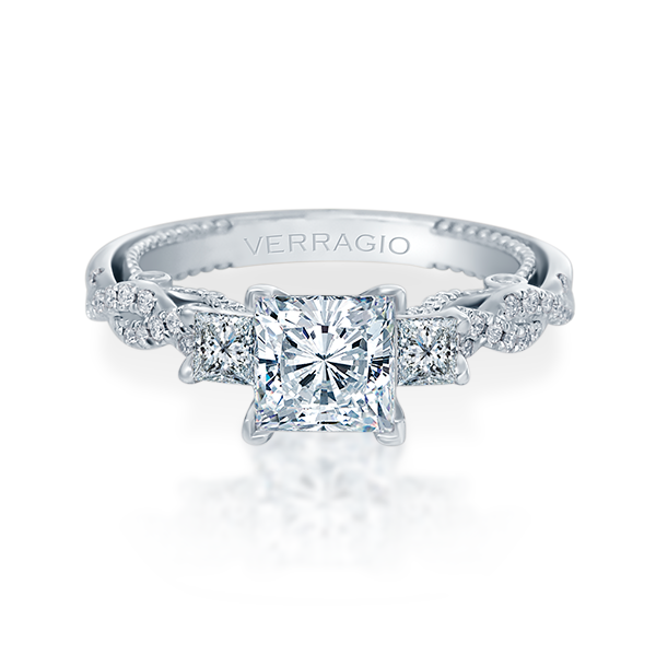 Verragio Insignia-7074P Diamond Three Stone Engagement Ring