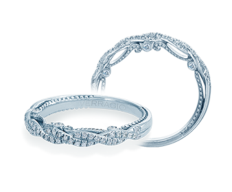 Verragio Insignia-7074W 18k White Gold Twist Wedding Band