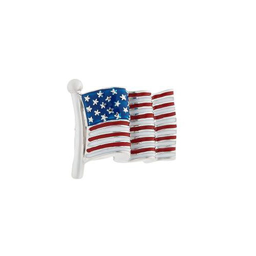 Jan Leslie American Flag Lapel Pin