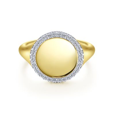 Gabriel & Co. 14k Yellow Gold Pinky Signet Ring