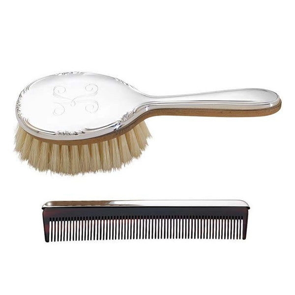 Reed & Barton Carolina Girls Brush & Comb Set