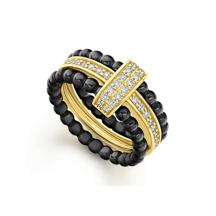 LAGOS Diamond Stacking Ring Set