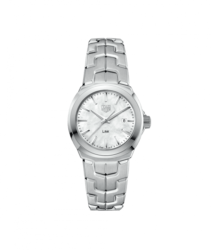 TAG Heuer 'Link' 32mm Watch with Mother of Pearl Dial
