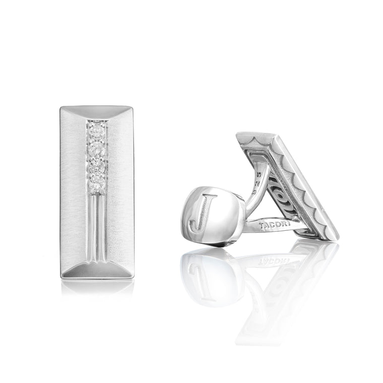 Tacori 'Retro Classic' Diamond Accent Cuff Links