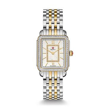 Michele Deco II Two-Tone Diamond Watch