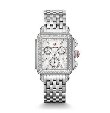 Michele Signature Deco Diamond Watch