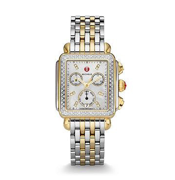 Michele Deco Two-Tone Diamond Watch