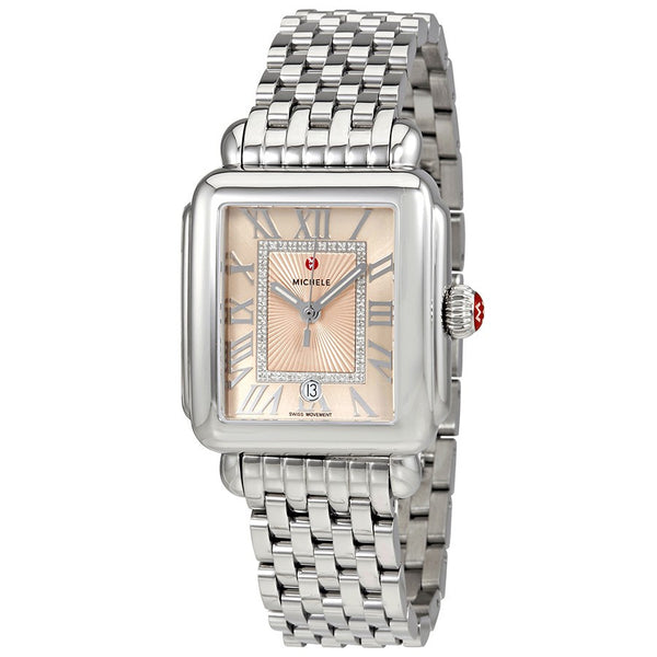 Michele Deco Madison Beige Diamond Dial Watch