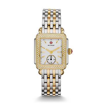 Michele Deco 16 Two-Tone Diamond Watch