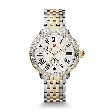 Michele Serein Two-Tone Diamond Watch