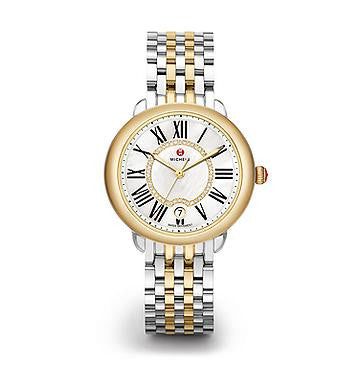 Michele Serein 16 Two-Tone Diamond Dial Watch
