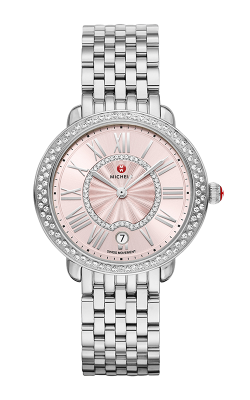 Michele Serein Mid Blush Diamond Watch