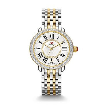 Michele Serein 16 Two-Tone Diamond Watch