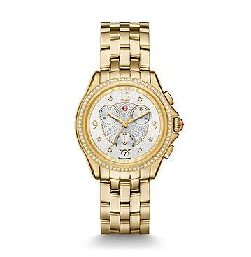 Michele Belmore Chrono Diamond Gold Watch