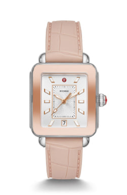 Michele Deco Sport Two-tone Pink Watch with White Dial