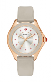 Michele Topaz Rose Gold Taupe Watch