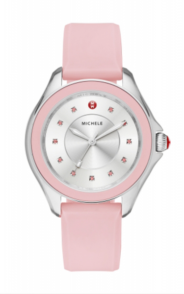 Michele Topaz Powder Pink Watch