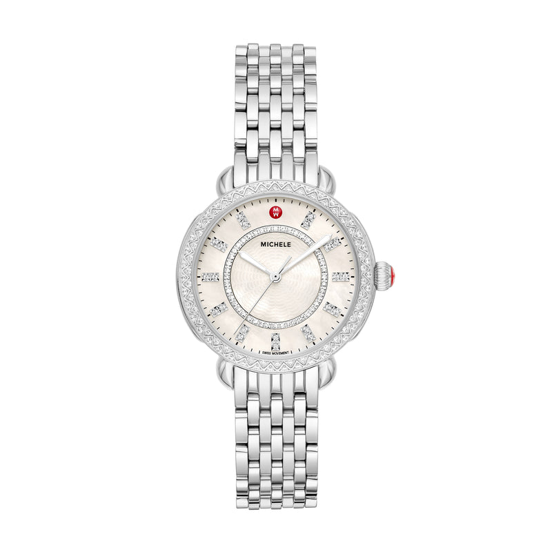 Michele Sidney Classic 33mm Watch with Diamonds